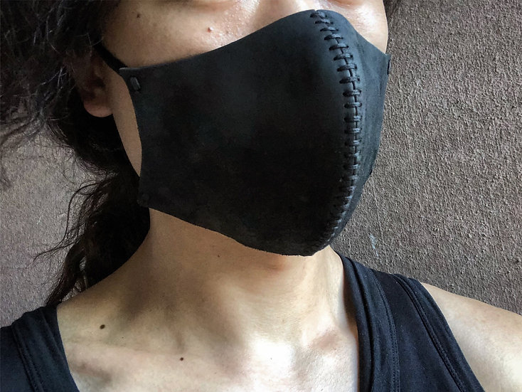Horse butt leather mask