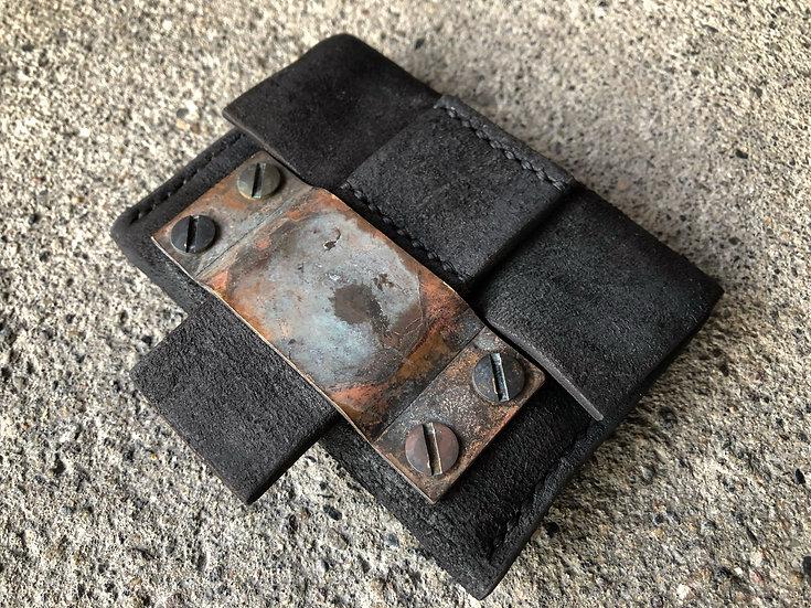 Horse butt reverse coin case [BL]