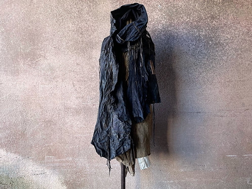 Tanned sheep garment dyed leather stole [OB]