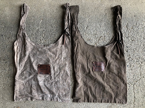 Hand dyed eco shopping bag