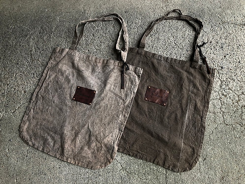 Hand dyed eco bag L size