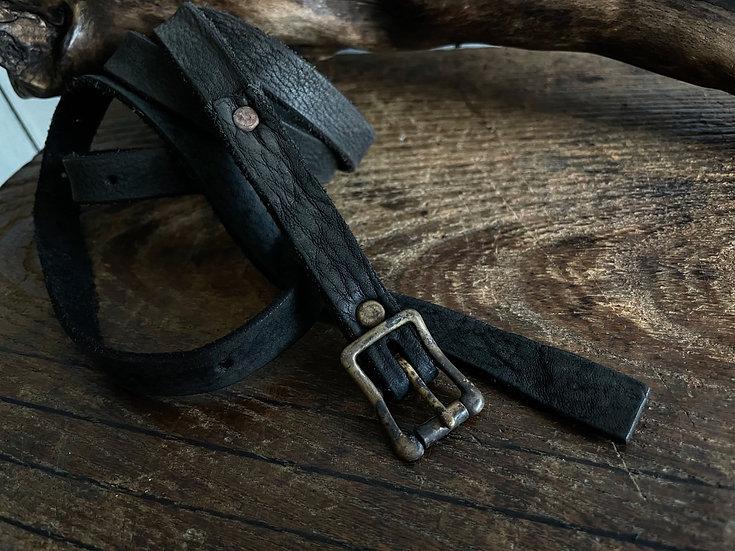 Antique finished long belt 14mm