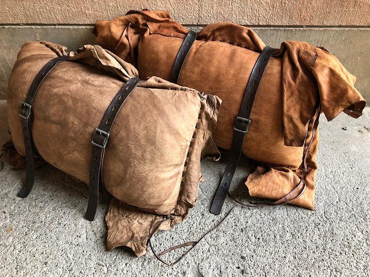 Gypsy leather cushion