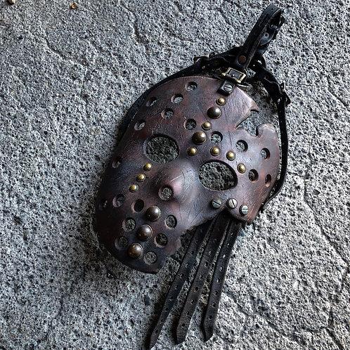 Custom leather hockey mask