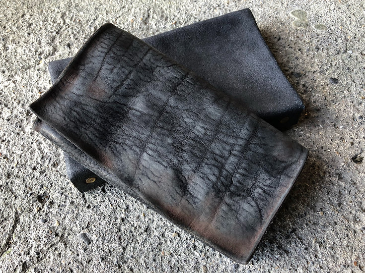 Italian shoulder D long wallet
