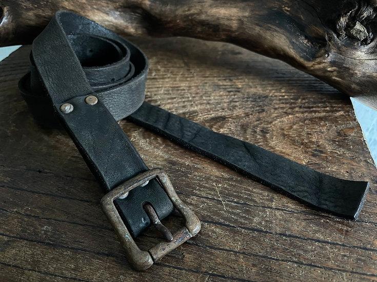 Antique finished long belt 24mm