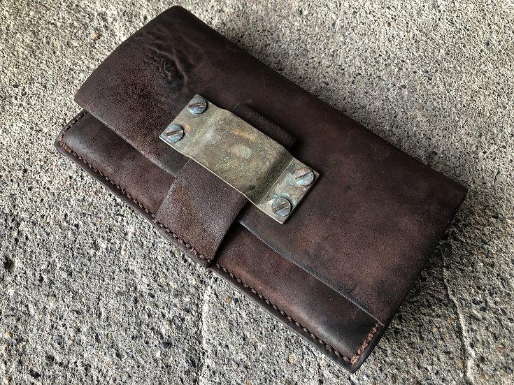 Horse butt reverse long wallet [BR]