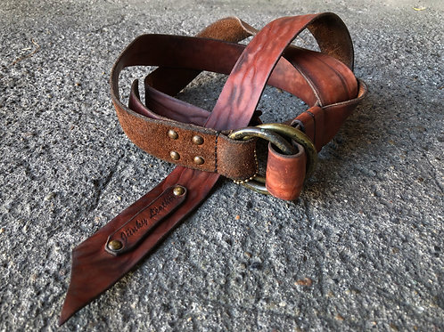 Horween wild leather long belt