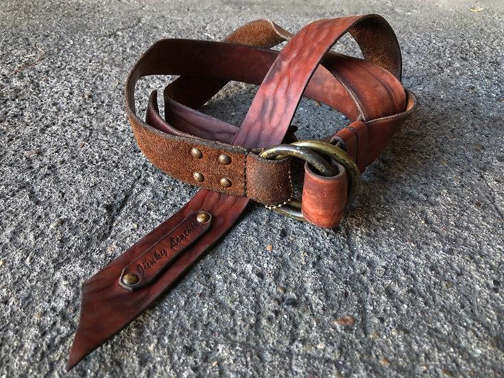 Horween wild leather long belt