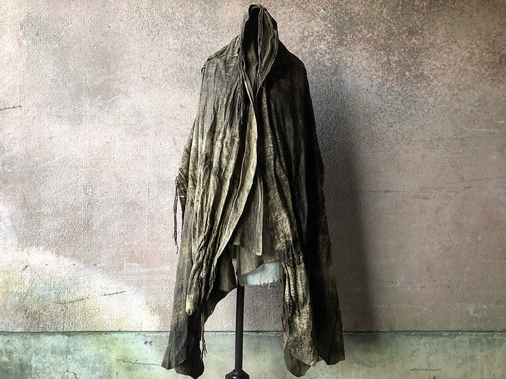 Antique sheep leather big stole