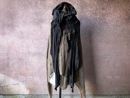 Sheep suede garment dyed leather stole [DG]