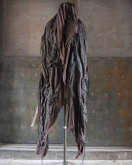 Oiled goat reverse leather stole