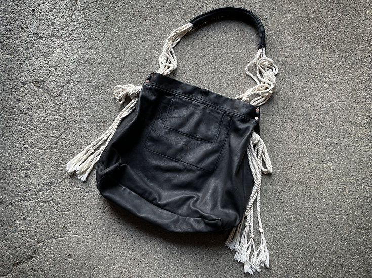 Cow leather 3way rope bag
