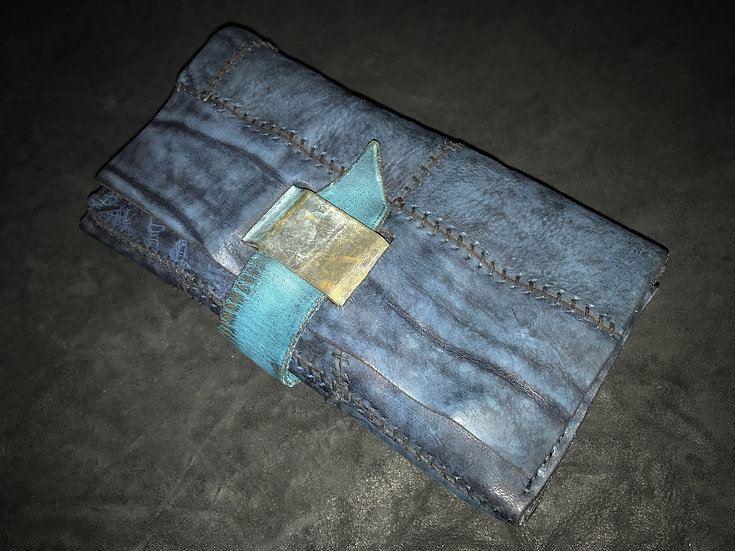 Italian shoulder patchwork travelers wallet