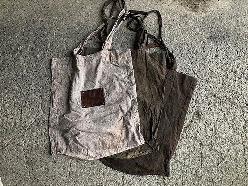 Hand dyed eco bag M size