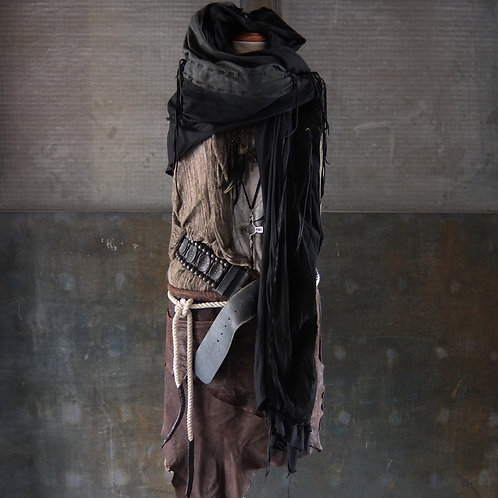 Mixture leather gypsy stole (GB)