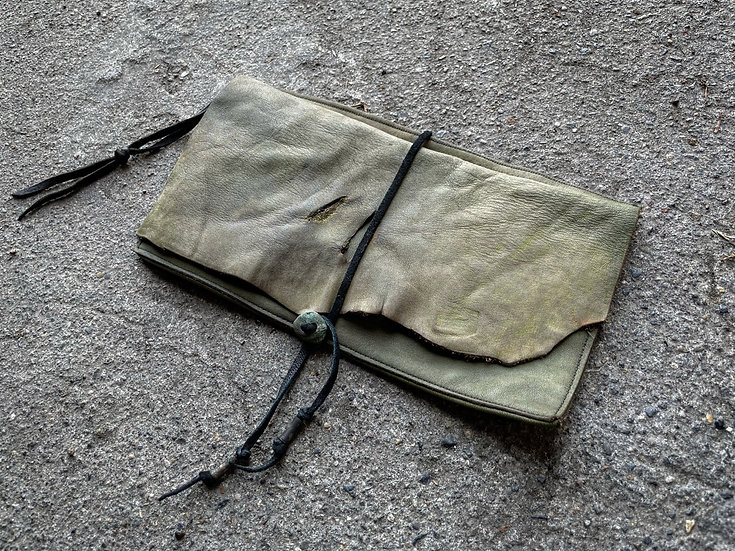 Cow leather gypsy pouch