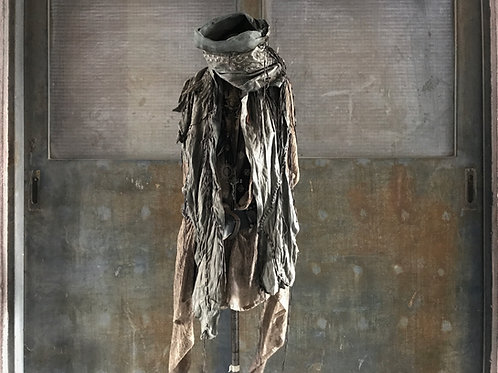 Italy goat leather gypsy stole