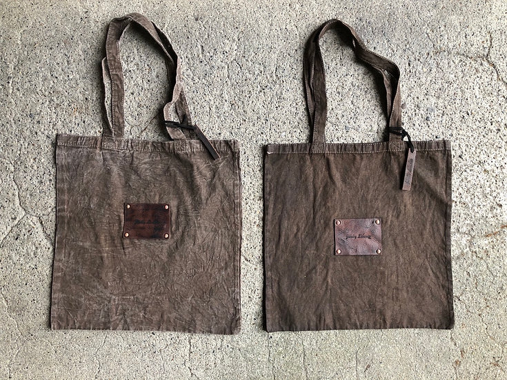 Hand dyed eco bag M size SQ