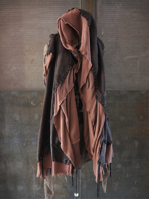 Oiled goat reverse big stole