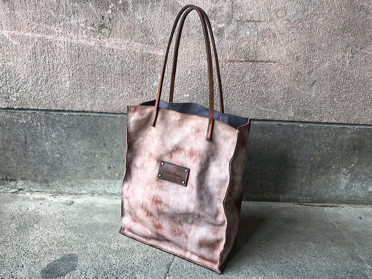 Decayed leather tote bag [RL]