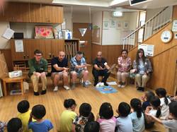 At the preschool!