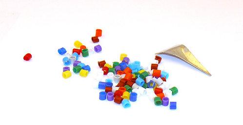 Anellini in plastica colori misti pz 100
