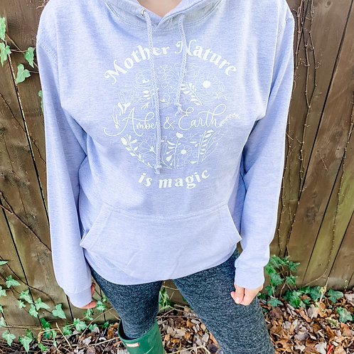 Comfy Hooded Sweatshirt - Heather Gray