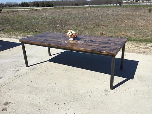 Parsons Metal & Wood Table