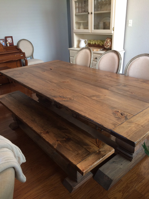 This Is The Perfect Bench To Go Along With Our Rustic Trestle Table.