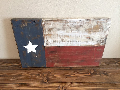 Hand Painted Texas Flag