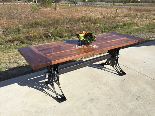 Walnut Layne Industrial Table