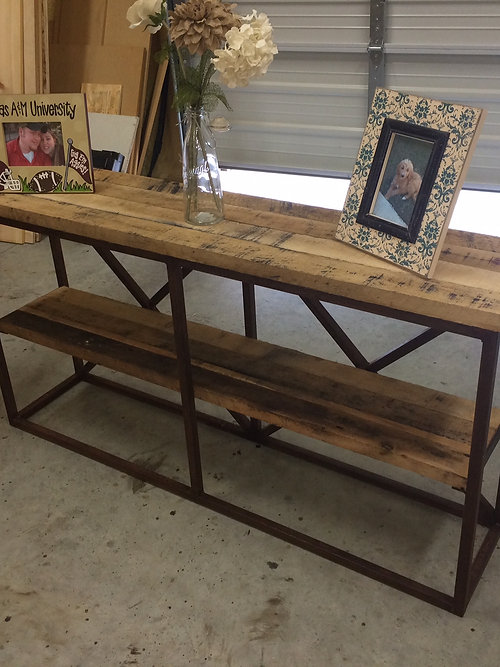 Ross Rustic Tables Metal Wood Sofa Table Several Styles