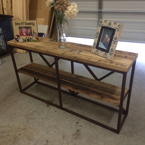 Sofa Table Wood And Metal Catosfera