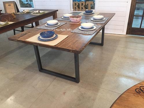 """""""U"""" Leg Metal & Wood Table"""