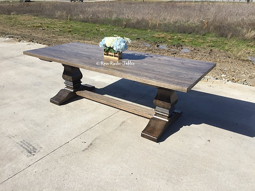 Oak Trestle Table