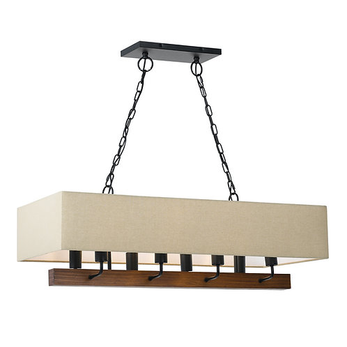 Wood & Cloth Chandelier