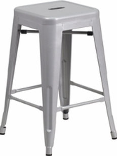 Colored Metal Barstools - 2 Sizes