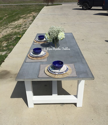handmade concrete table