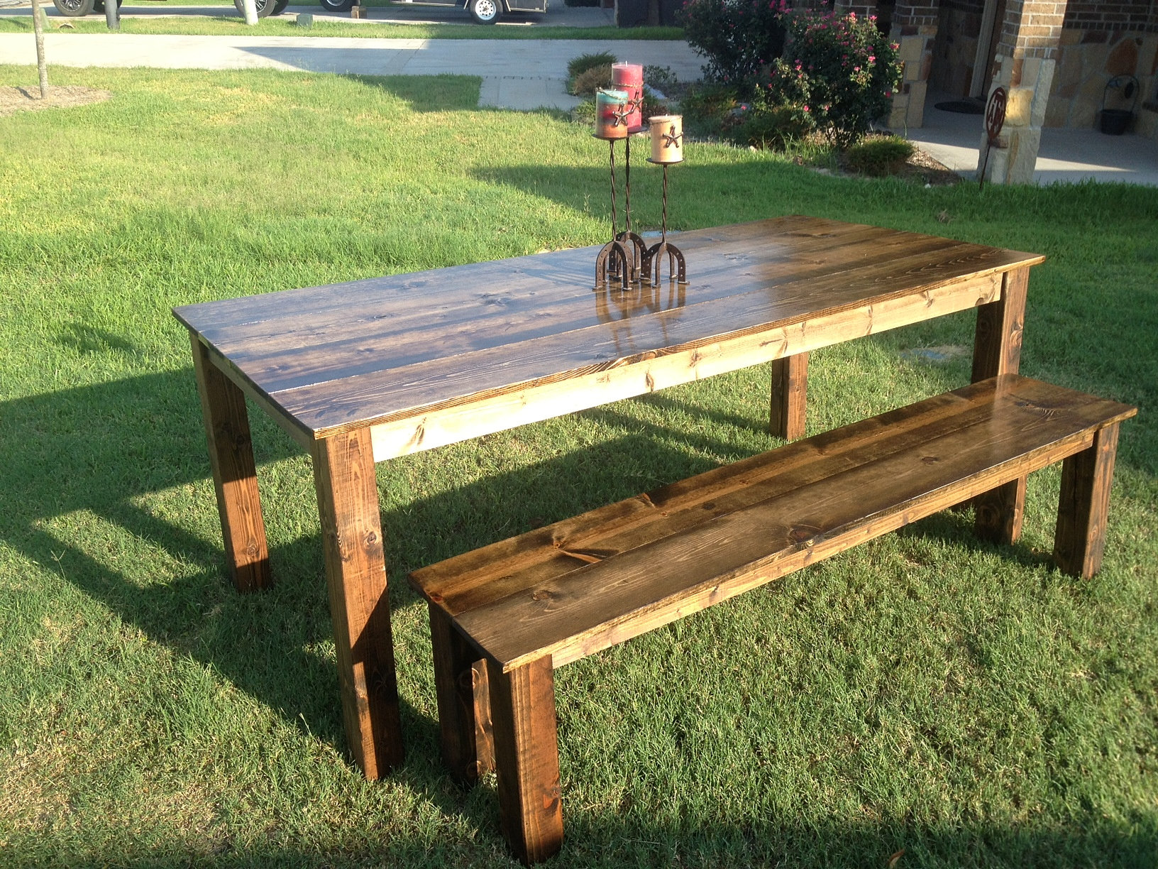 Diy Farmhouse Table Amp Bench Happiness Is Homemade Farmhouse Table With Bench | 2017 - 2018 Best Cars Reviews