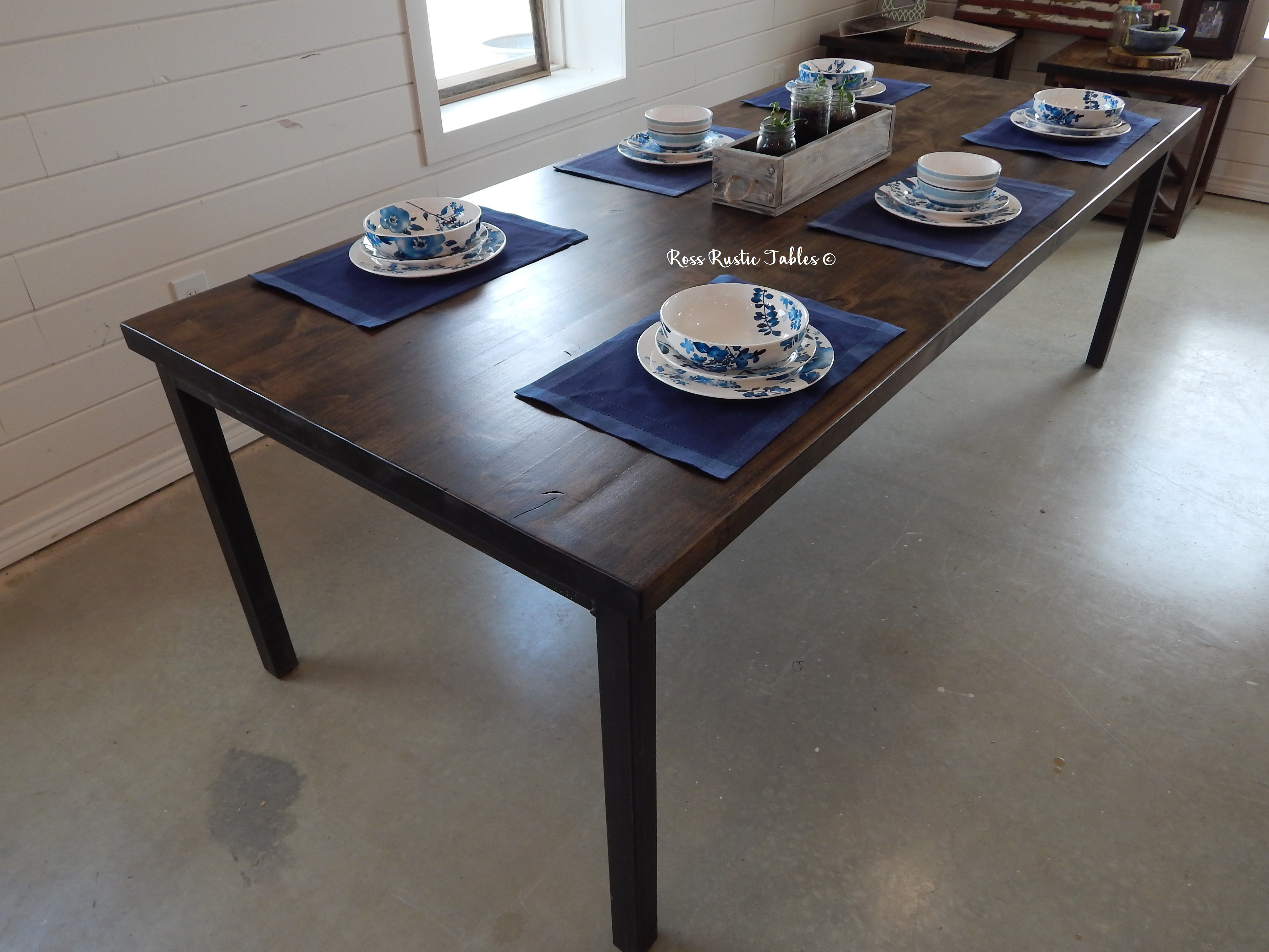 This Beautiful Solid Wood Farmhouse Table Is The Perfect Addition To Any  Home! This Dining Table Is The Definition Of Rustic. At Ross Rustic Tables  We Hand ...