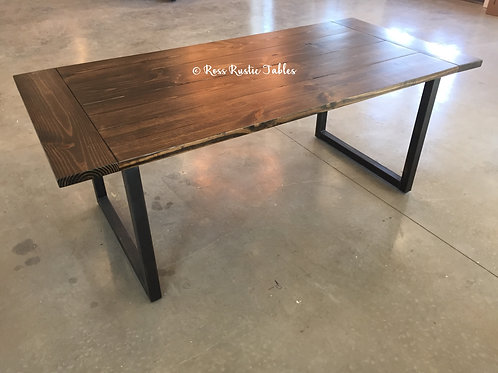 "Metal & Wood ""U"" Table"