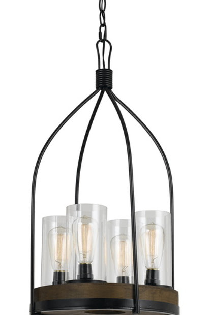 Chardon Metal & Wood Chandelier