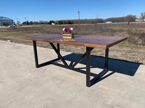 """Metal & Wood """"V"""" Table"""