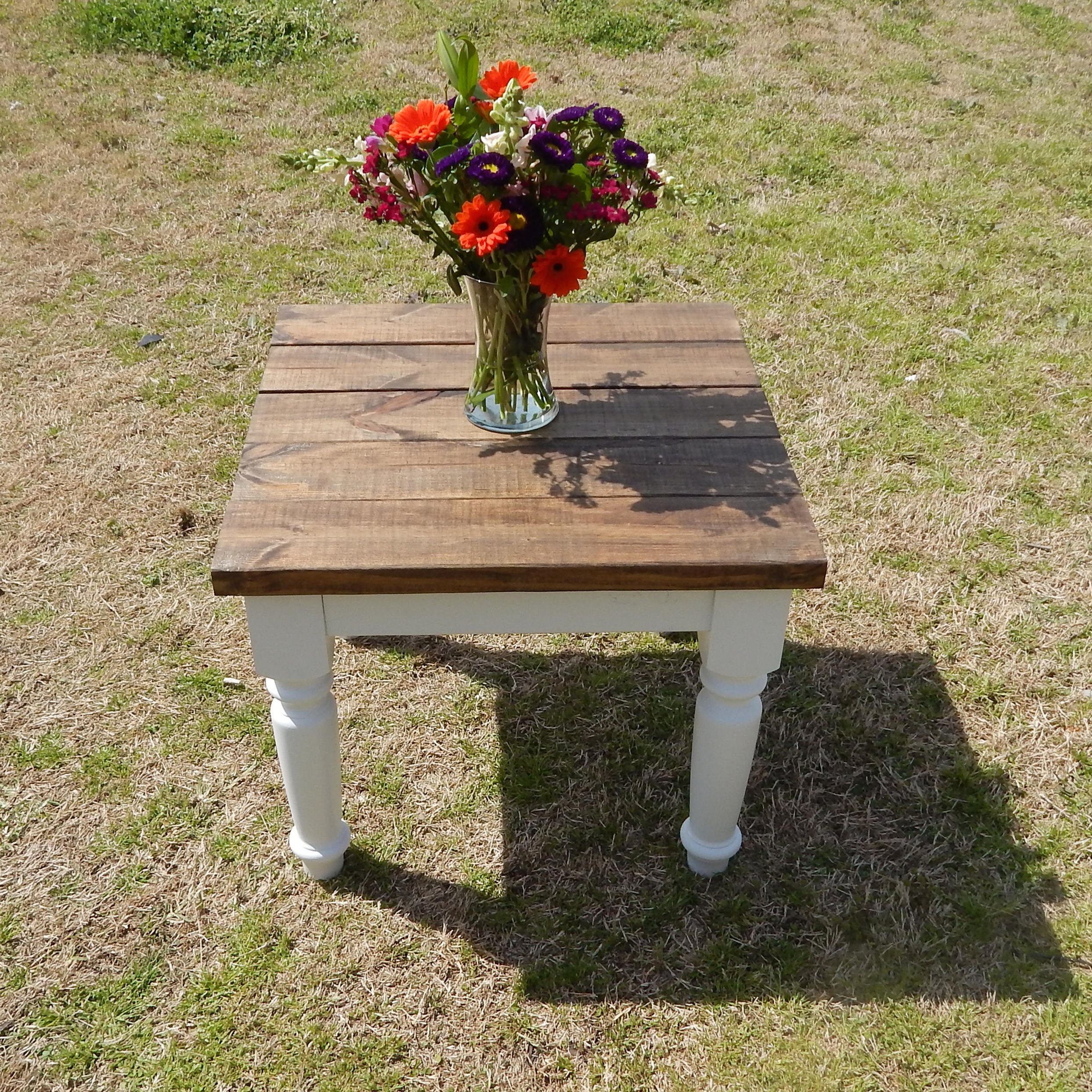 Custom Solid Wood Rustic Cottage End Table. Choose The Dimensions, Shape  And Color Of Your Piece. At Ross Rustic Tables We Build Every Item To  Order, ...