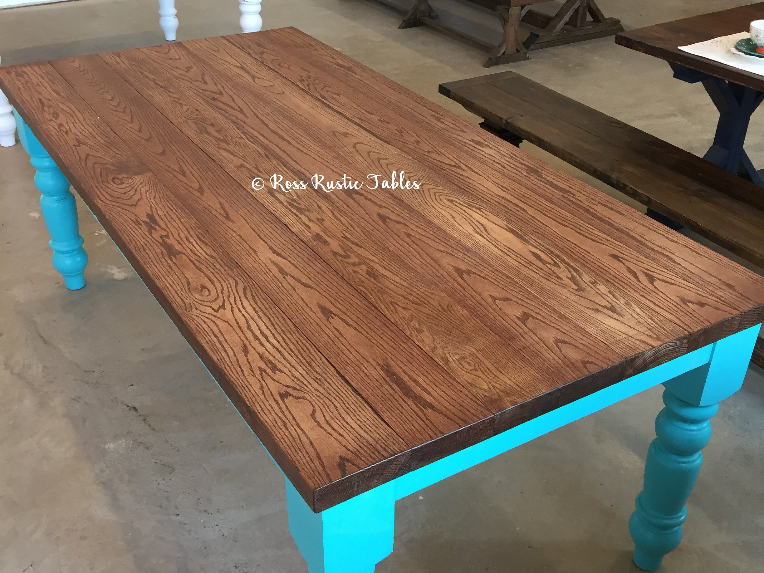 ... Solid Wood Farmhouse Table Is The Perfect Addition To Any Home! This  Dining Table Is Perfect For A Large Family Gathering. At Ross Rustic Tables  We Hand ...