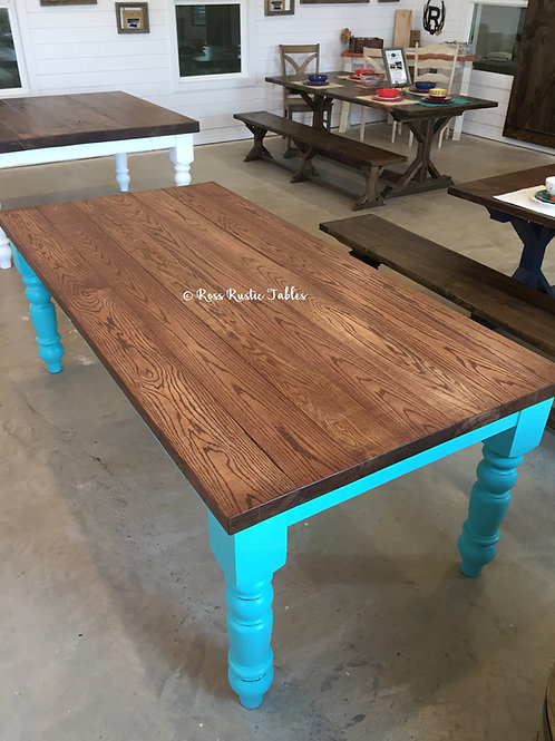 Rustic Cottage Table ~ Oak
