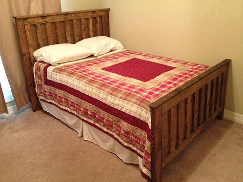 Rustic Head & Footboard