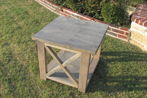 Custom Solid Wood Rustic End Table. Choose The Dimensions, Shape And Color  Of Your Piece. At Ross Rustic Tables We Build Every Item To Order, And That  Means ...