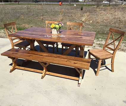 farmhouse table with extension